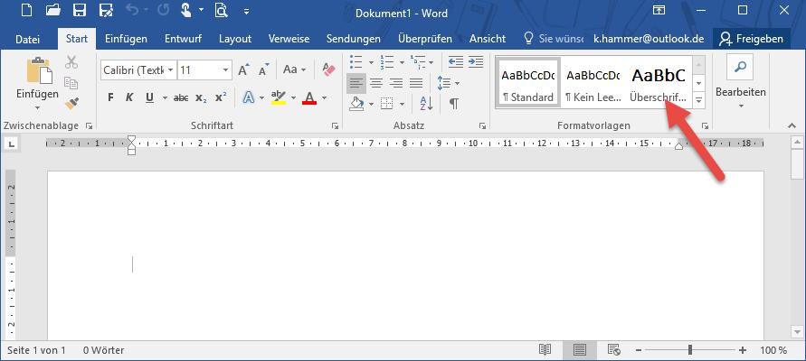 Formatvorlagen verwenden, ändern und neu definieren