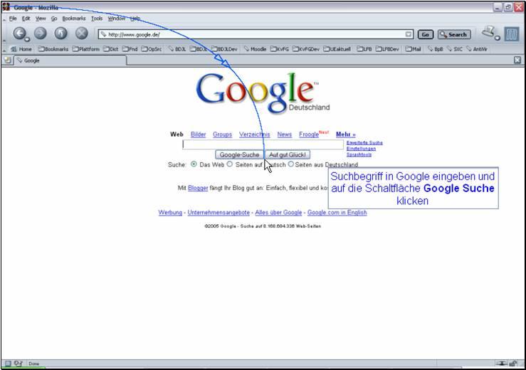 Bilder finden mit Google