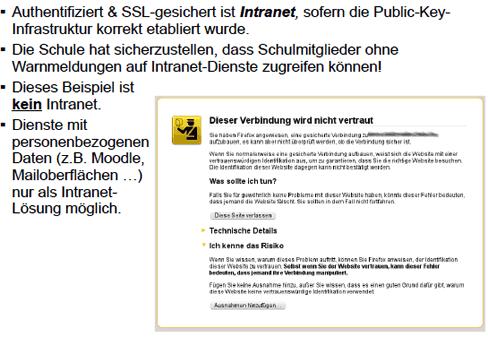 Internetdienste an Schulen und schulisches Intranet