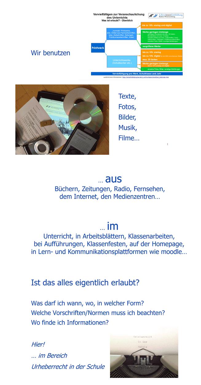 Urheberrecht in der Schule Baden-Württemberg