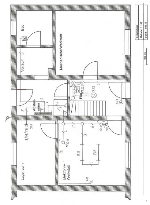 Grundriss Der Wohnung Mit E Installation