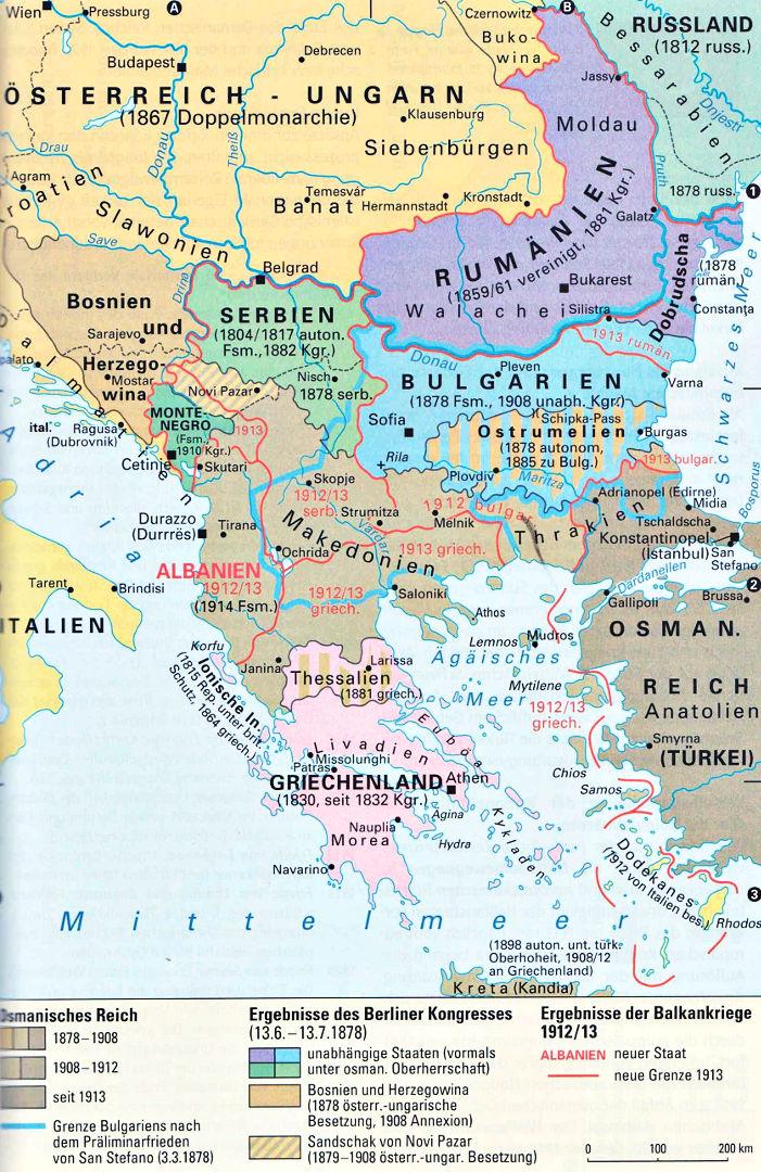 Osmanisches Reich Karte 1914.Ab 2 4 Die Balkankriege