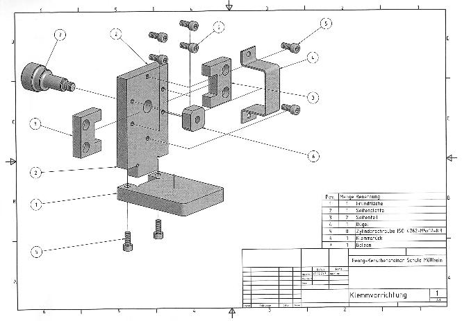 Klemmvorrichtung Technische Zeichnung