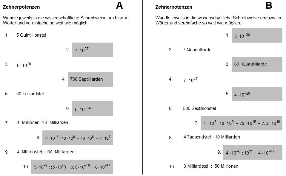 Tandem bung zehnerpotenzen for Tabelle 10er potenzen