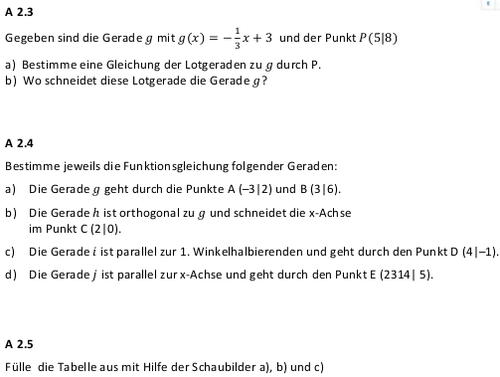 Aufgabenfundus Klasse 10 Analysis