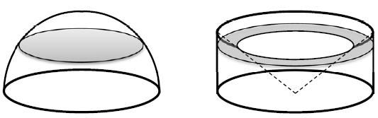 volumen halbkugel formel