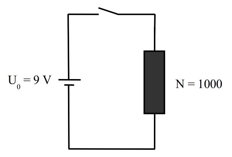 Einschaltvorgang einer Spule mit Modellbildung