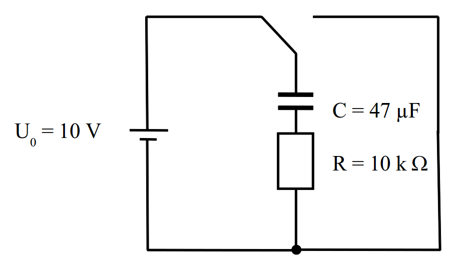Entladevorgang Kondensator — mit Modellbildung