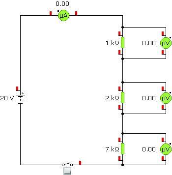 Schaltung von Widerständen<br />mit Yenka (Crocodile Physics)