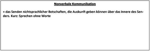 Was ist nonverbale Kommunikation?