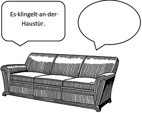 Folie situation for Sofa von der seite