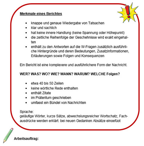 Bericht: Arbeitsblatt 3