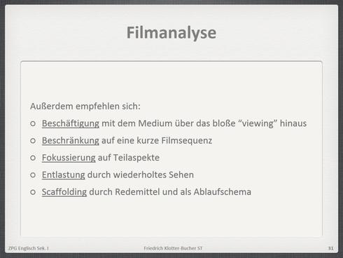 Filmanalyse Schreiben Formulierungen Und Vokabeln