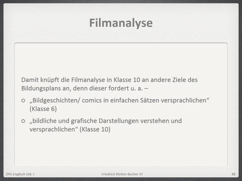 Filmanalyse und Aufgaben