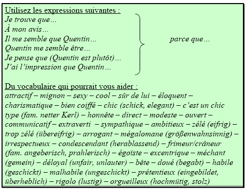 Arbeitsblatt 6 (Sprachhilfen)